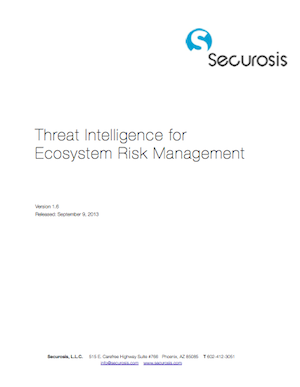 Ecosystem Threat Intelligence Cover
