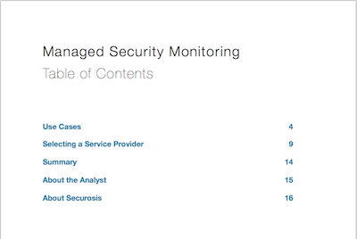 Managed Security Monitoring