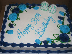 80 candles would have melted the cake...