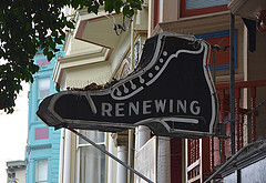 Renewing sign