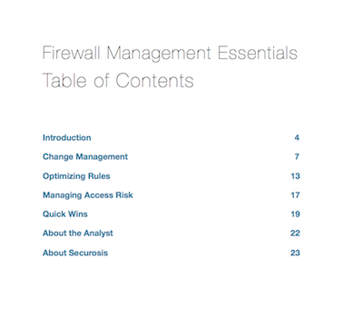 Firewall Management Essentials
