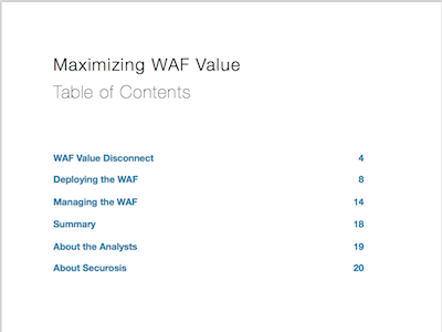 Maximizing WAF ToC