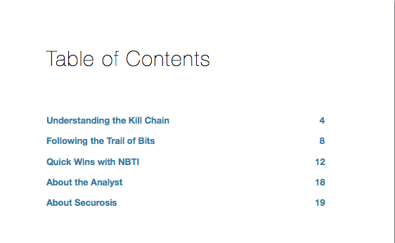 research article network based threat intelligence table of contents