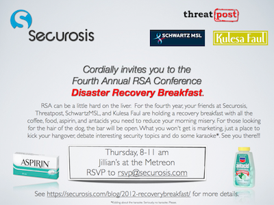 2012 Disaster Recovery Breakfast