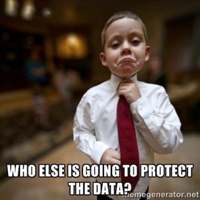who else is going to protect the data